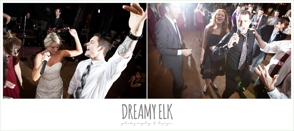 guests dancing at wedding reception, fall wedding, rock lake ranch, dreamy elk photography and design