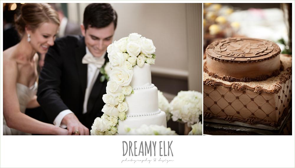 white roses, wedding cake, aggie wedding cake, winter wedding, austin wedding photographer, dreamy elk photography and design