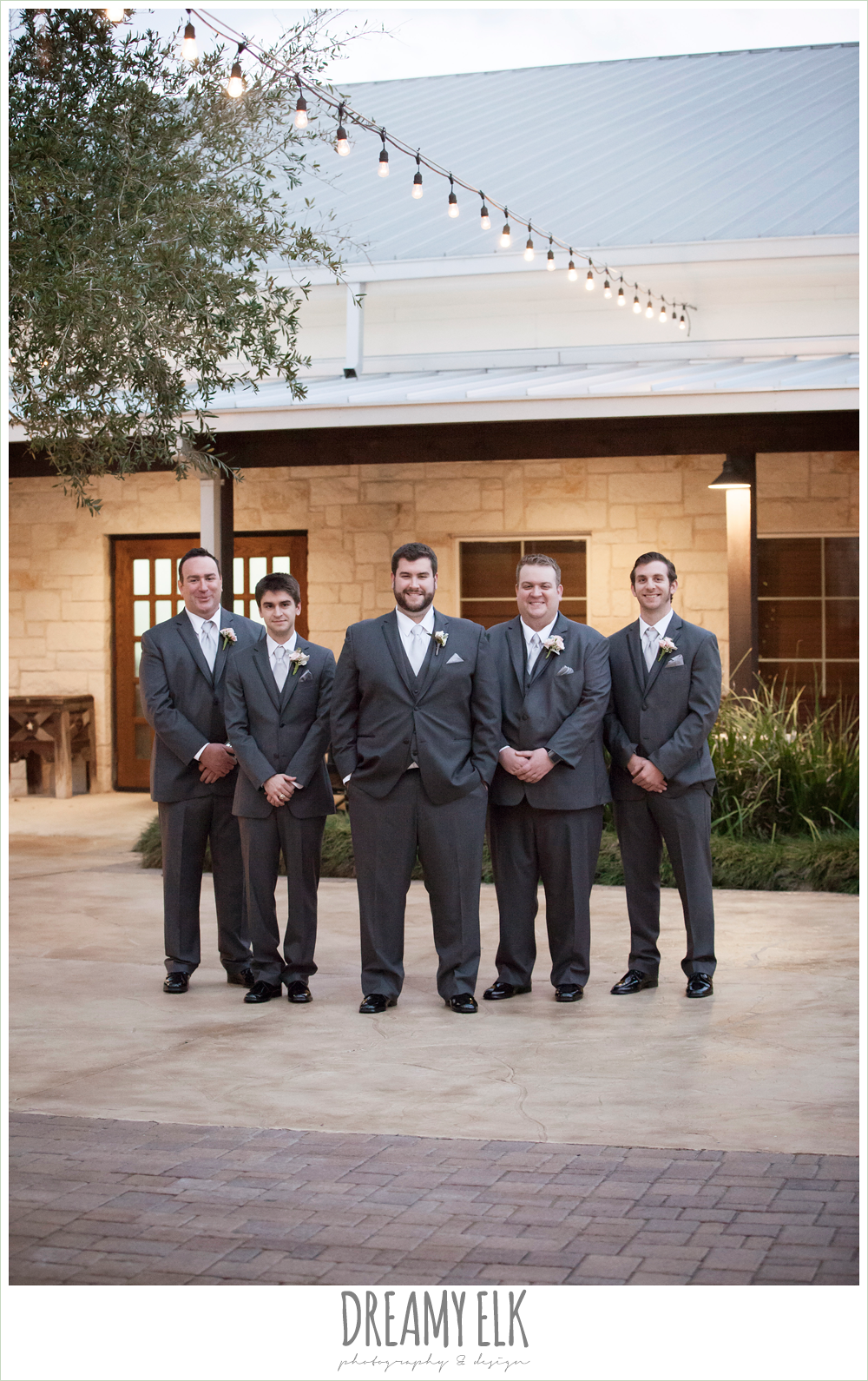groom in a gray three piece suit, houston winter wedding {dreamy elk photography and design}