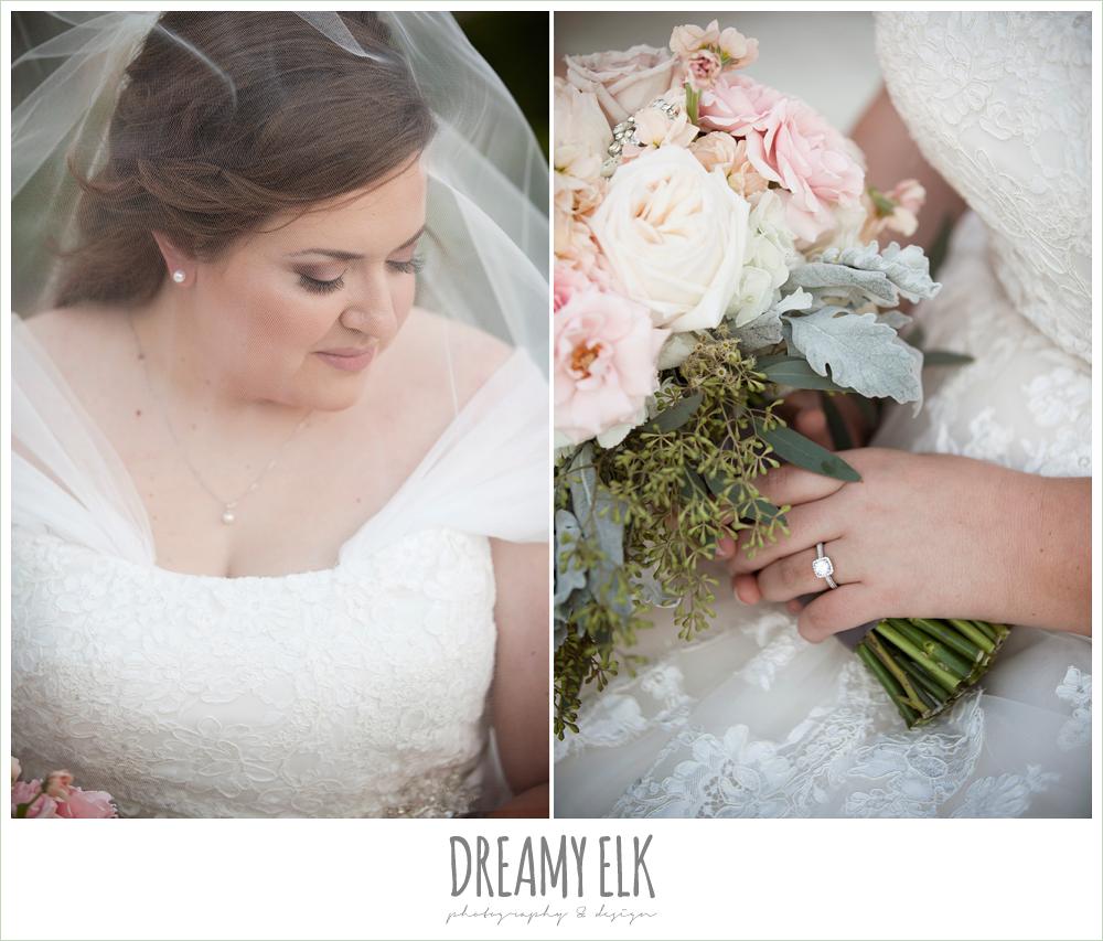 belle inspired wedding dress, blush toned wedding bouquet, houston winter wedding {dreamy elk photography and design}