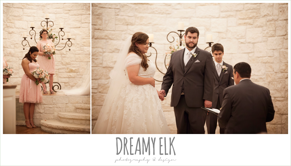 blush toned bridesmaids dresses, briscoe manor, houston winter wedding {dreamy elk photography and design}
