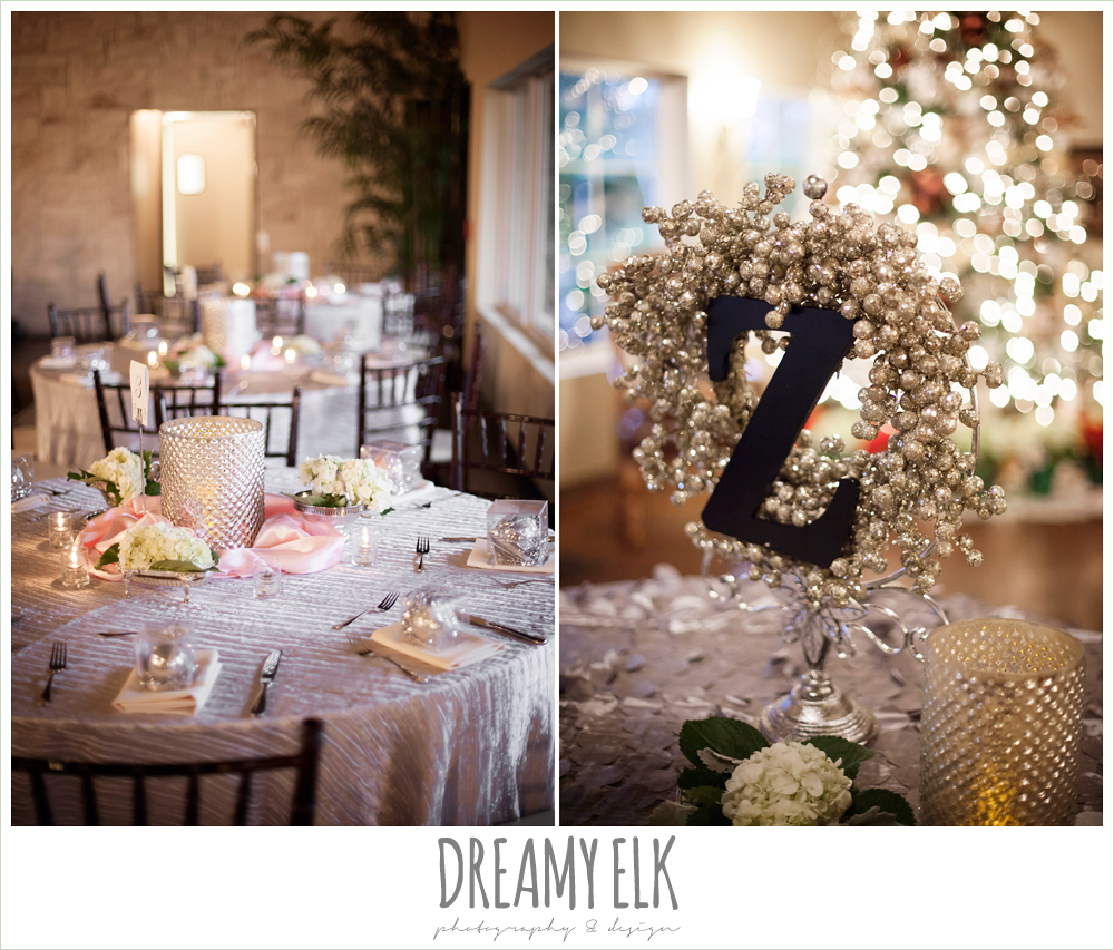 blush toned table linens, briscoe manor, houston winter wedding photo {dreamy elk photography and design}