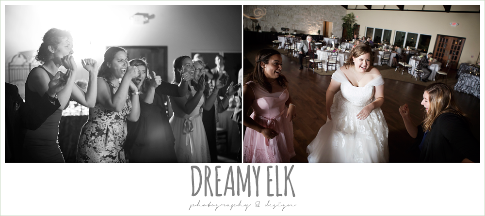guests dancing at reception, briscoe manor, houston winter wedding photo {dreamy elk photography and design}