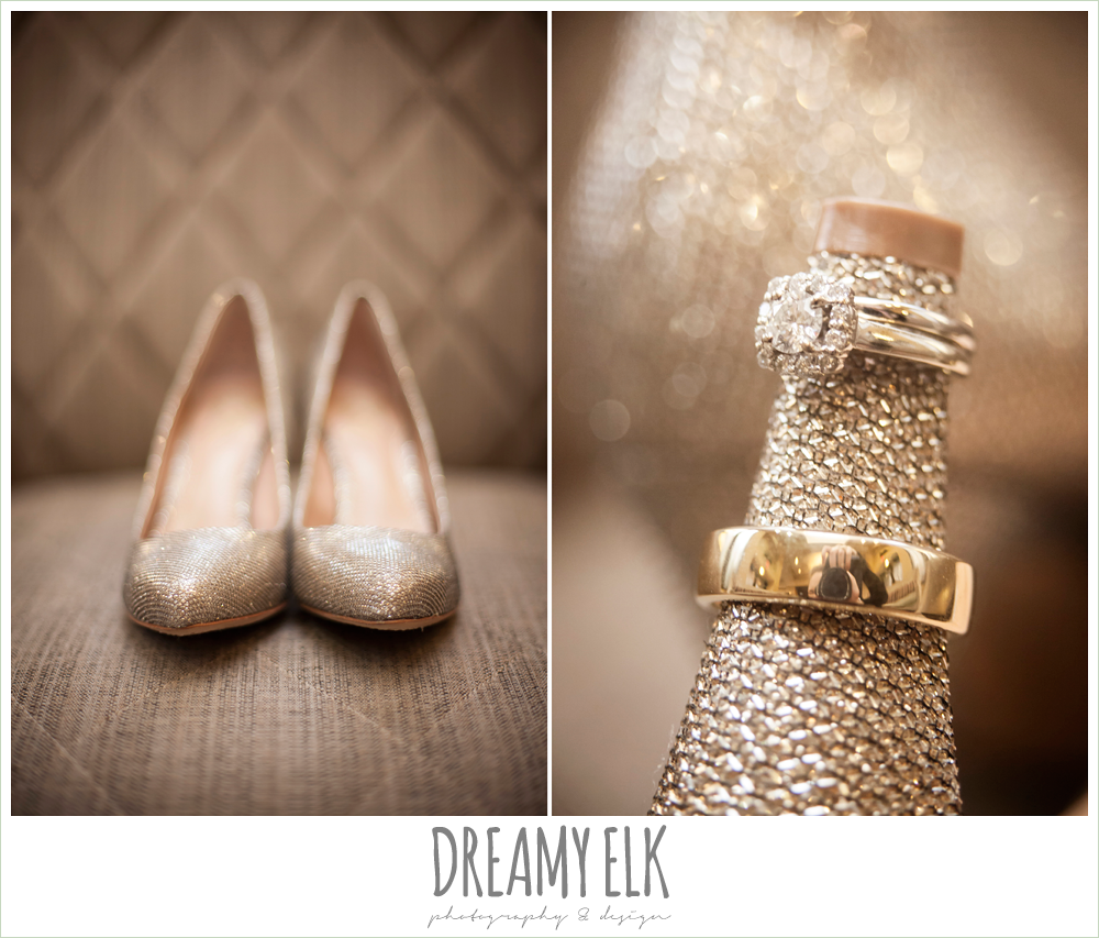 gold wedding heels, wedding jewelry, christmas wedding {dreamy elk photography and design} photo
