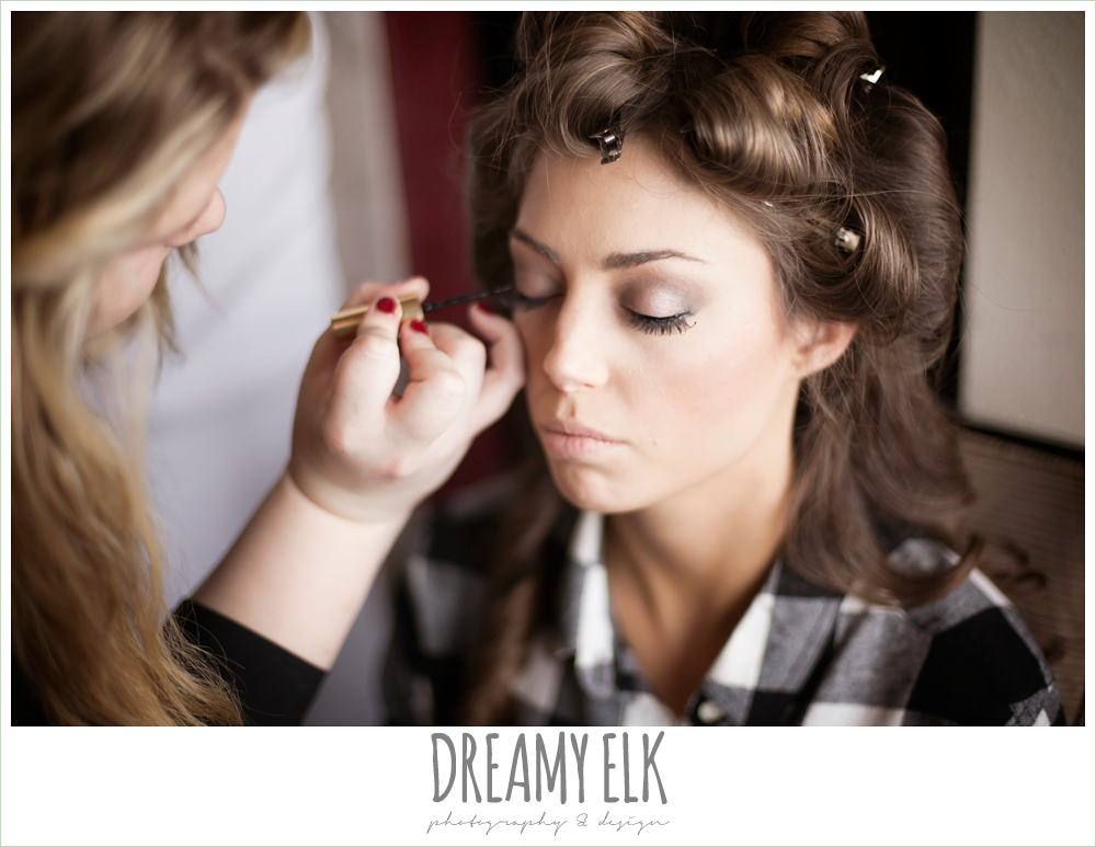 bridal makeup, christmas wedding {dreamy elk photography and design} photo