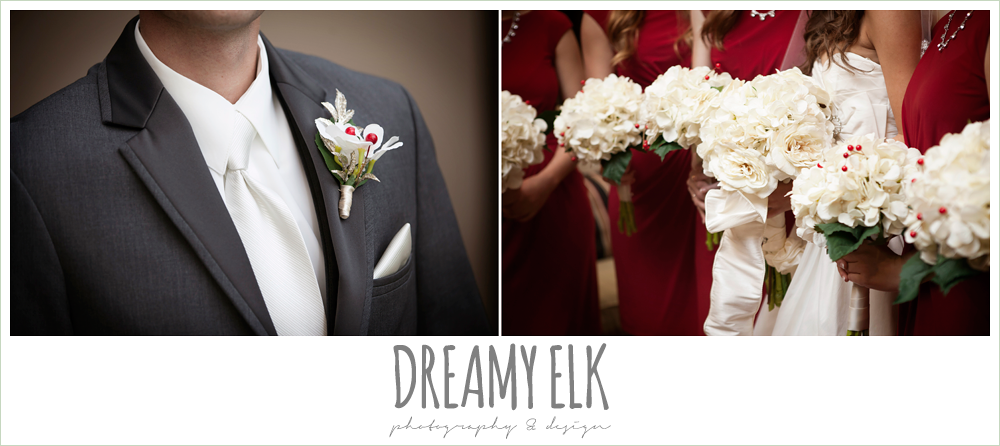 diy wedding florals, christmas wedding {dreamy elk photography and design} photo