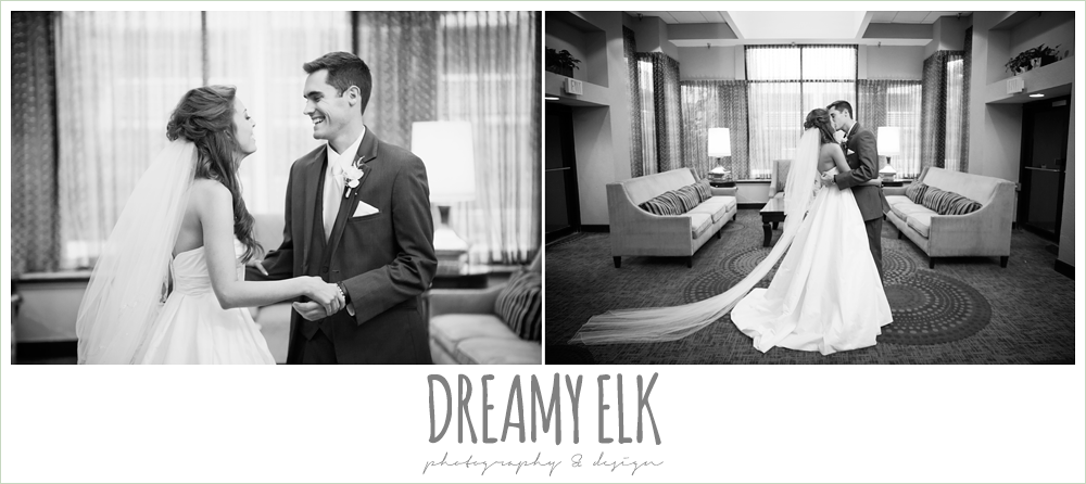 bride and groom first look, christmas wedding {dreamy elk photography and design} photo