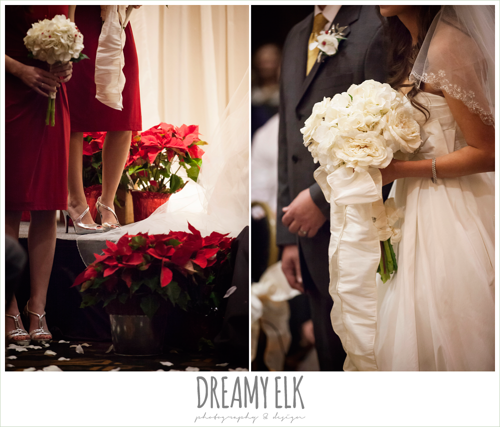 diy wedding florals, christmas wedding decorations {dreamy elk photography and design} photo