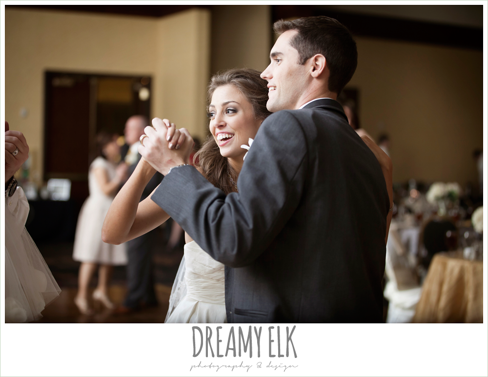bride and groom dancing, christmas wedding {dreamy elk photography and design} photo