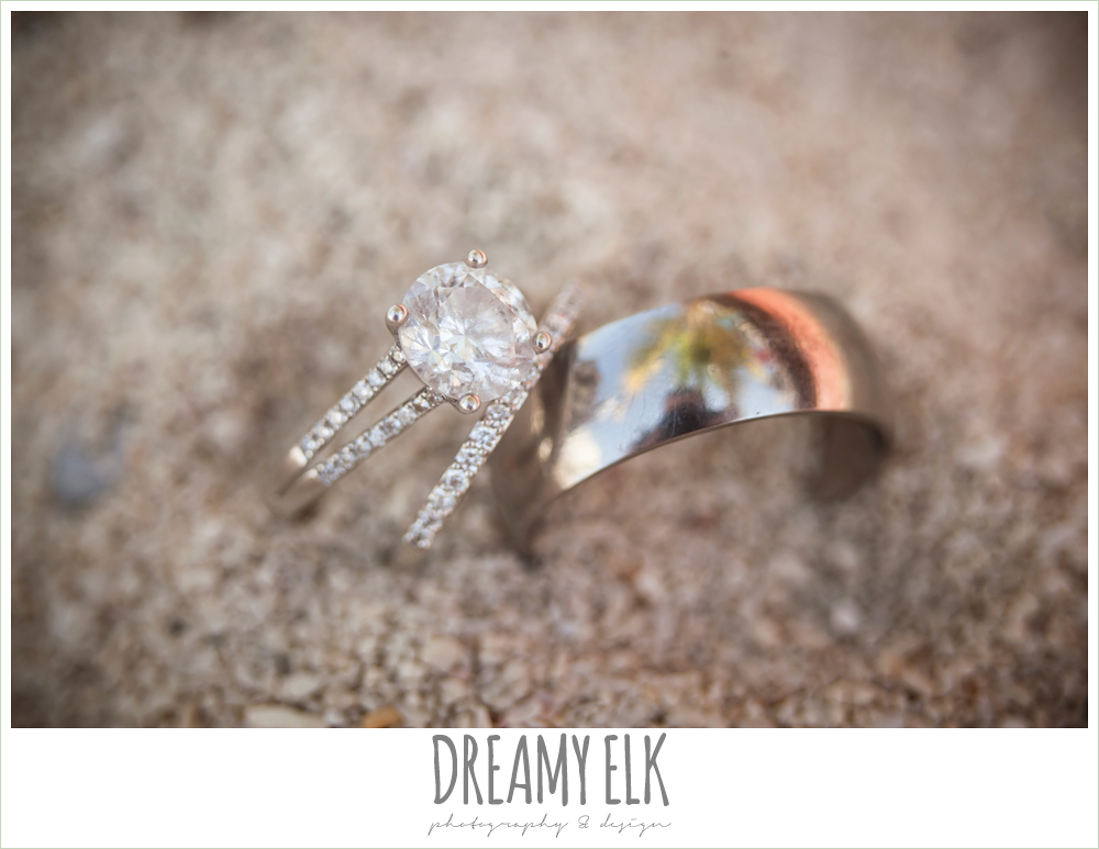 wedding rings in the sand, destination wedding, cozumel {dreamy elk photography and design} photo