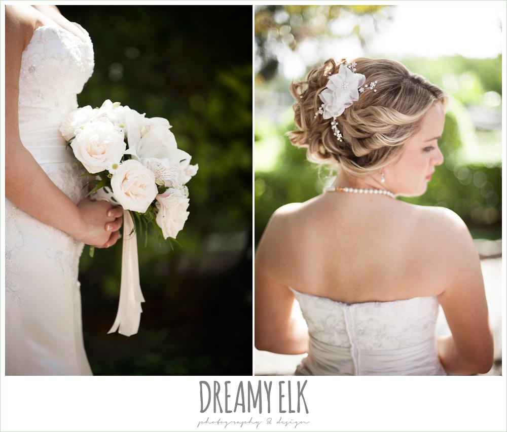 white wedding bouquet, beach wedding hair, destination wedding, cozumel {dreamy elk photography and design} photo