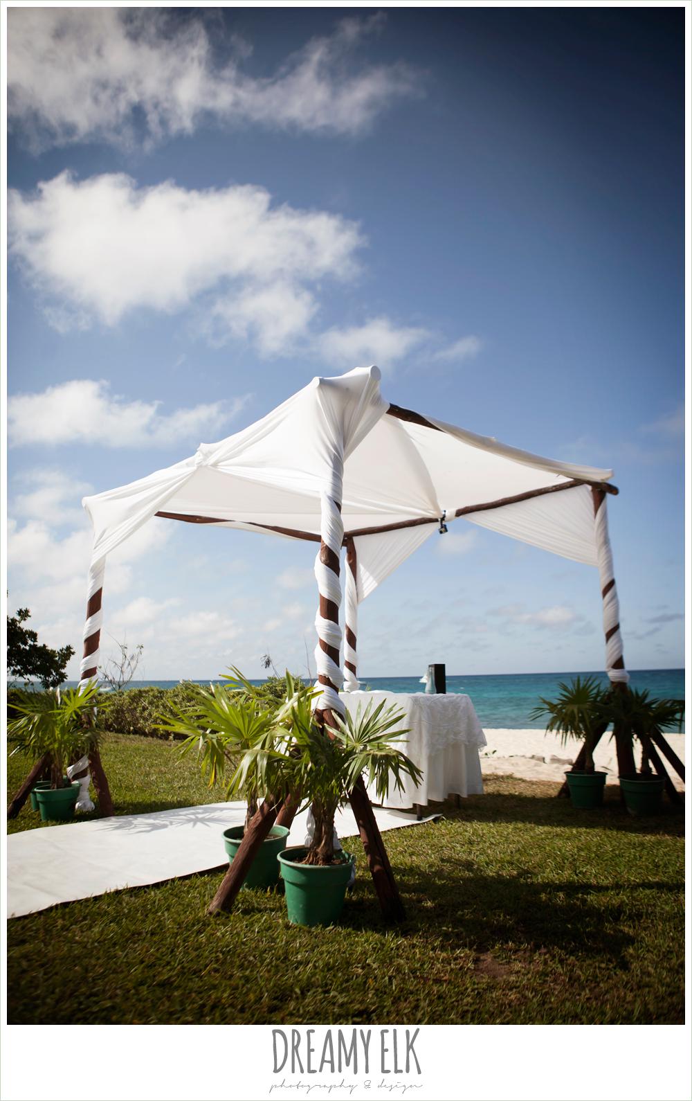 white wedding canopy, destination wedding, cozumel {dreamy elk photography and design} photo