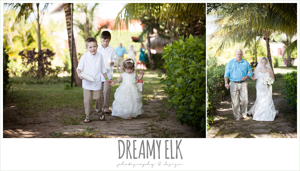 ring bearer and flower girl, outdoor destination wedding, cozumel {dreamy elk photography and design} photo