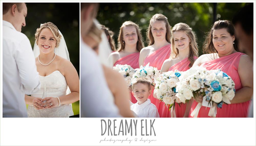 pink, one shoulder bridesmaids dresses, outdoor destination wedding, cozumel {dreamy elk photography and design} photo