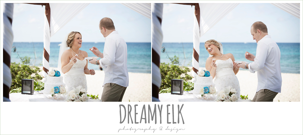 cutting the cake, destination wedding, cozumel {dreamy elk photography and design} photo