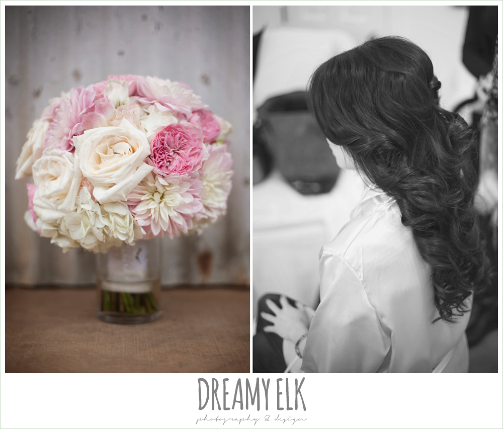 blush pink and purple wedding bouquet {dreamy elk photography and design}