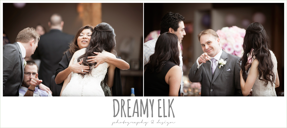 bride and groom mingling, rustic chic wedding {dreamy elk photography and design}