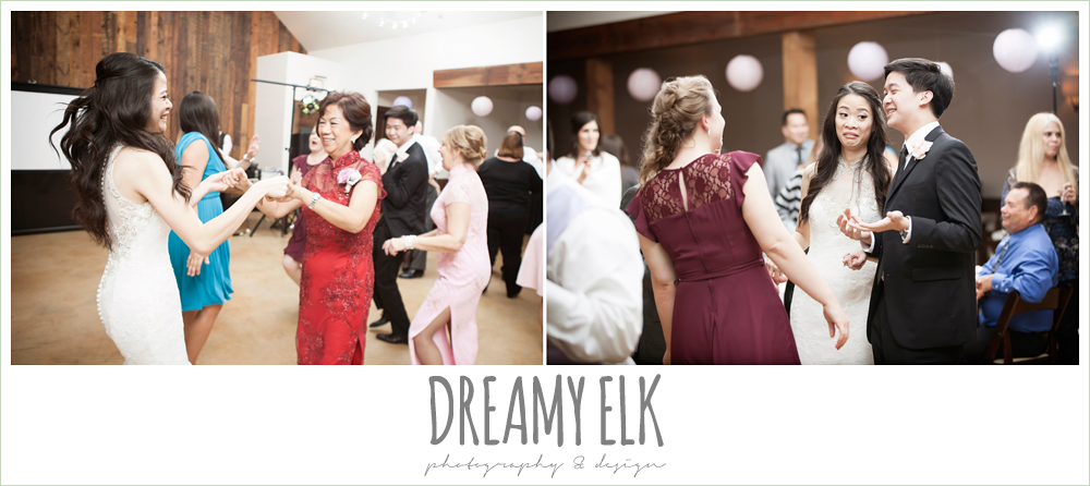 wedding guests dancing, rustic chic wedding {dreamy elk photography and design}