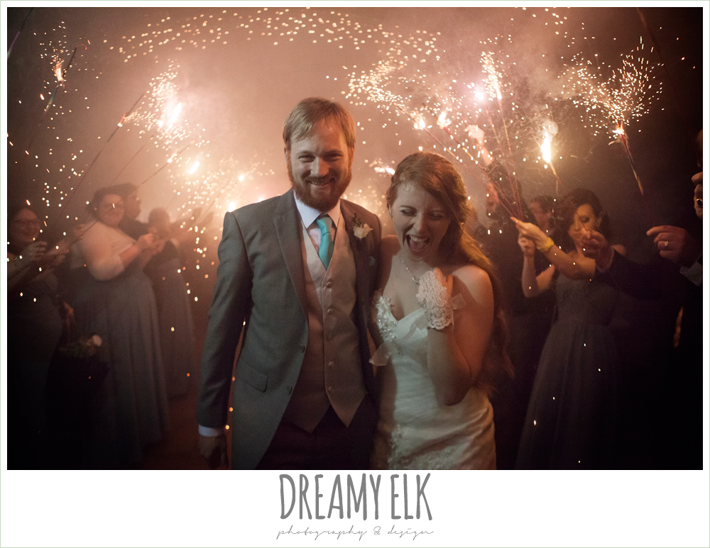 sparkler wedding send off, le jardin winter wedding {dreamy elk photography and design}