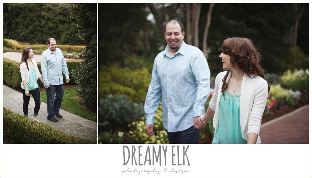 overcast engagement photo, dallas arboretum and botanical garden {dreamy elk photography and design}