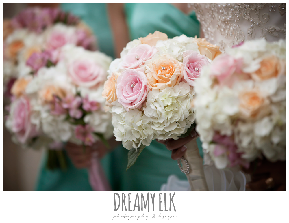 from this day forward florist, white orange and pink wedding bouquet, downtown austin wedding {dreamy elk photography and design}
