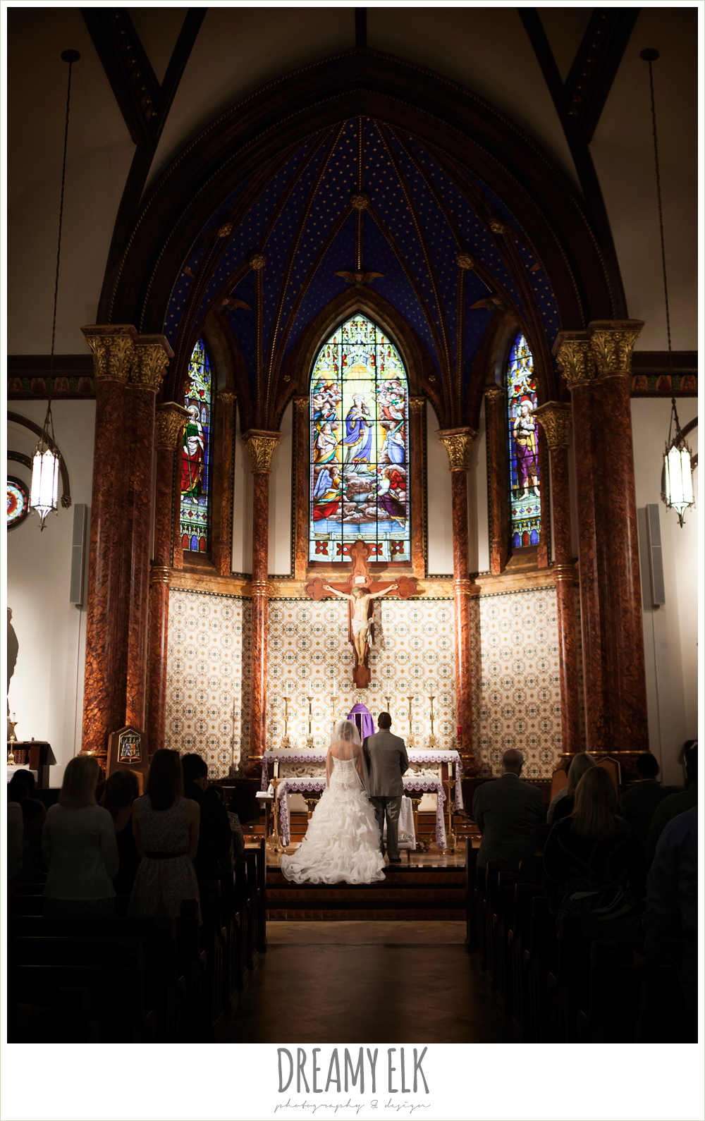 st mary's cathedral wedding ceremony, downtown austin spring wedding {dreamy elk photography and design}
