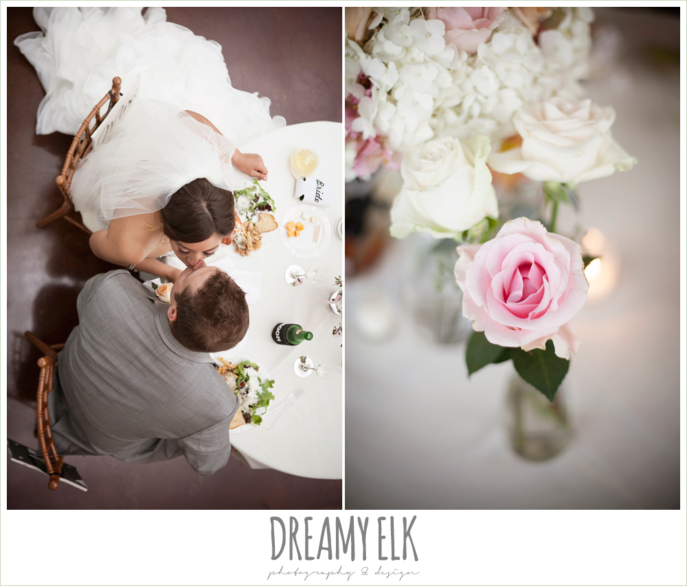 bride and groom sweetheart table, floral table centerpieces, austin spring wedding {dreamy elk photography and design}