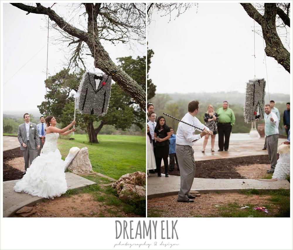 pinatas at wedding reception, austin spring wedding {dreamy elk photography and design}