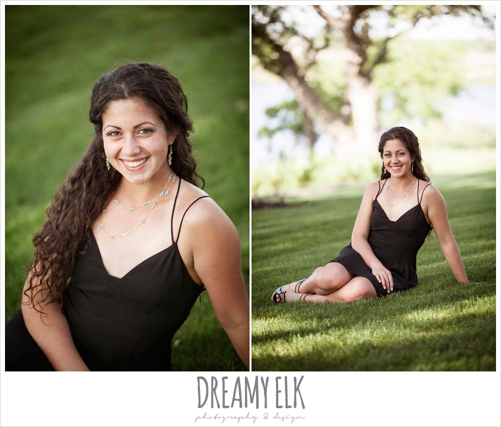 outdoor high school senior photo, avery ranch golf course, austin, texas {dreamy elk photography and design}
