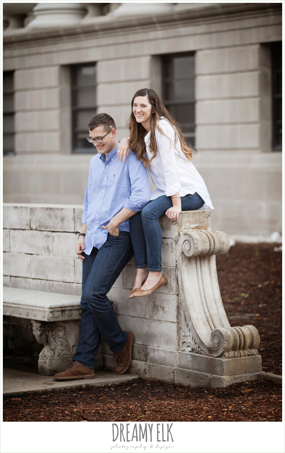 administration building, texas a&m campus engagement photo, college station, texas {dreamy elk photography and design}