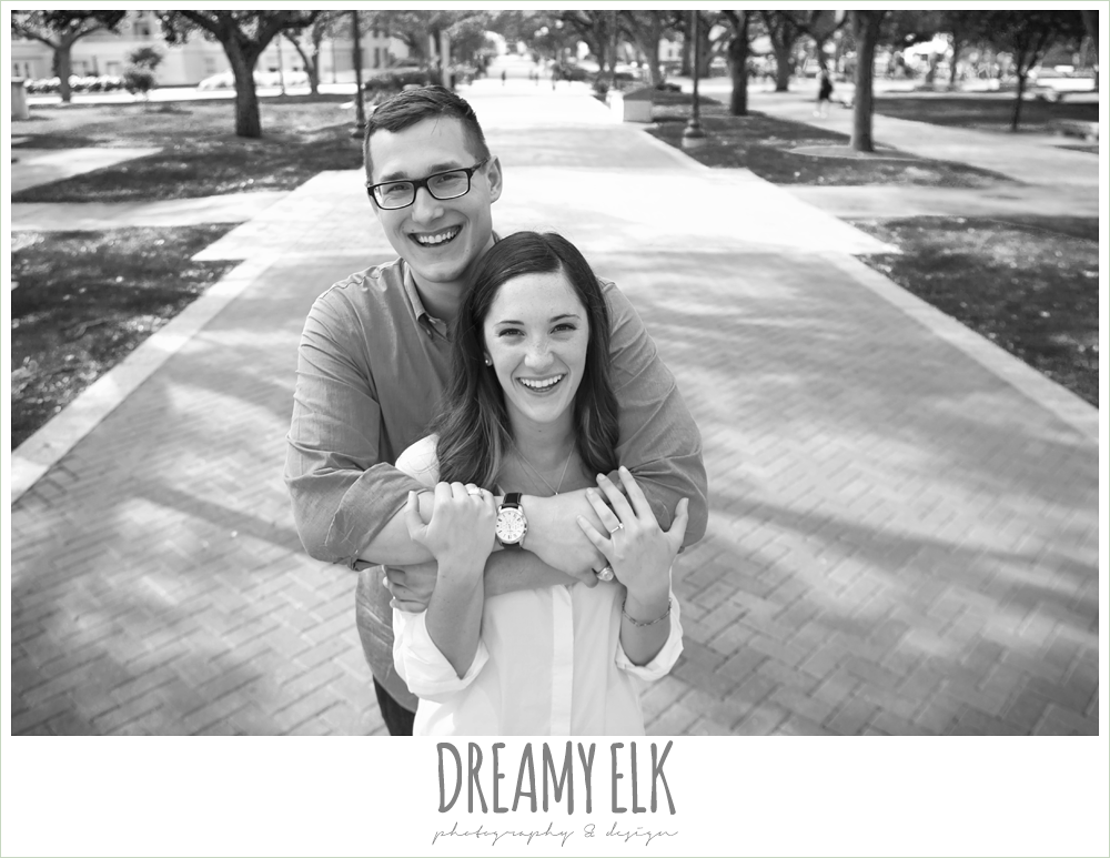 military walk, texas a&m campus engagement photo, college station, texas {dreamy elk photography and design}