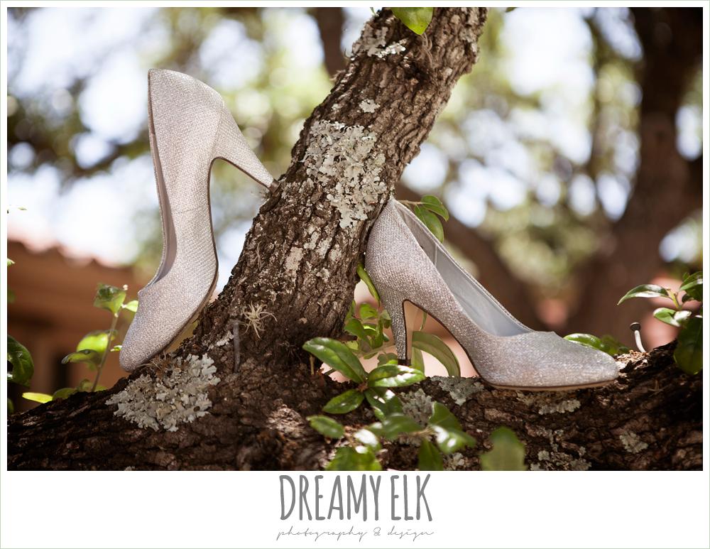 silver wedding heels, aldo shoes, la hacienda, dripping springs, texas {dreamy elk photography and design} photo