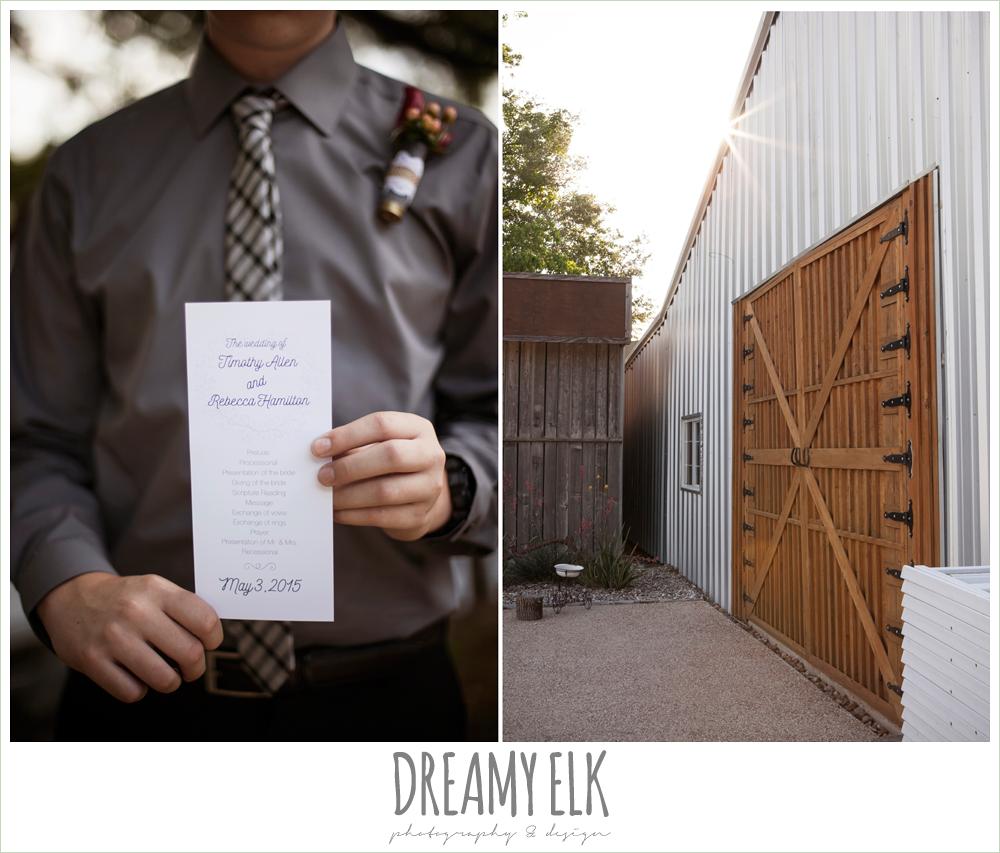 wedding program, pine lake ranch, photo {dreamy elk photography and design}