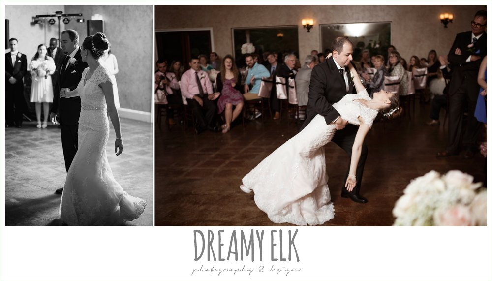bride and groom choreographed first dance, northeast wedding chapel, rainy wedding day photo {dreamy elk photography and design}