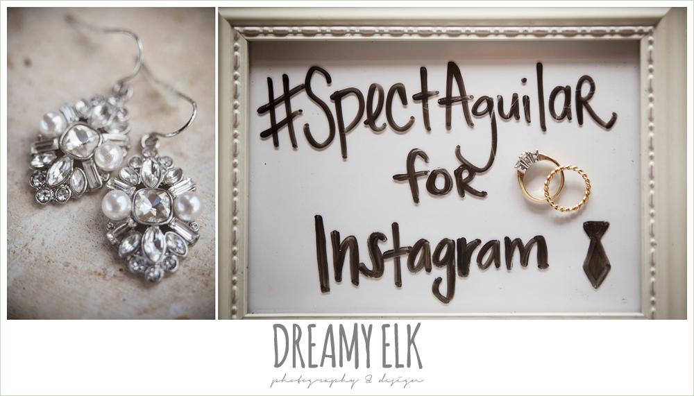 wedding jewelry, detail photo, wedding hashtag, pecan springs, houston, texas, photo {dreamy elk photography and design}