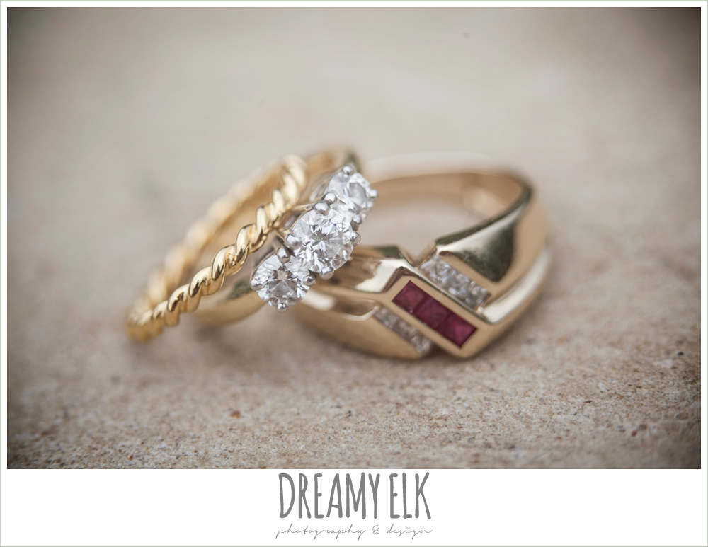 gold wedding bands, vintage wedding ring, detail photo {dreamy elk photography and design}