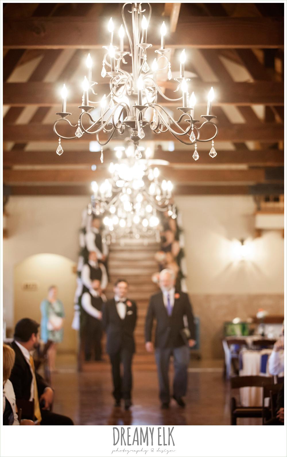 indoor wedding ceremony, chandeliers, pecan springs, houston, texas, photo {dreamy elk photography and design}