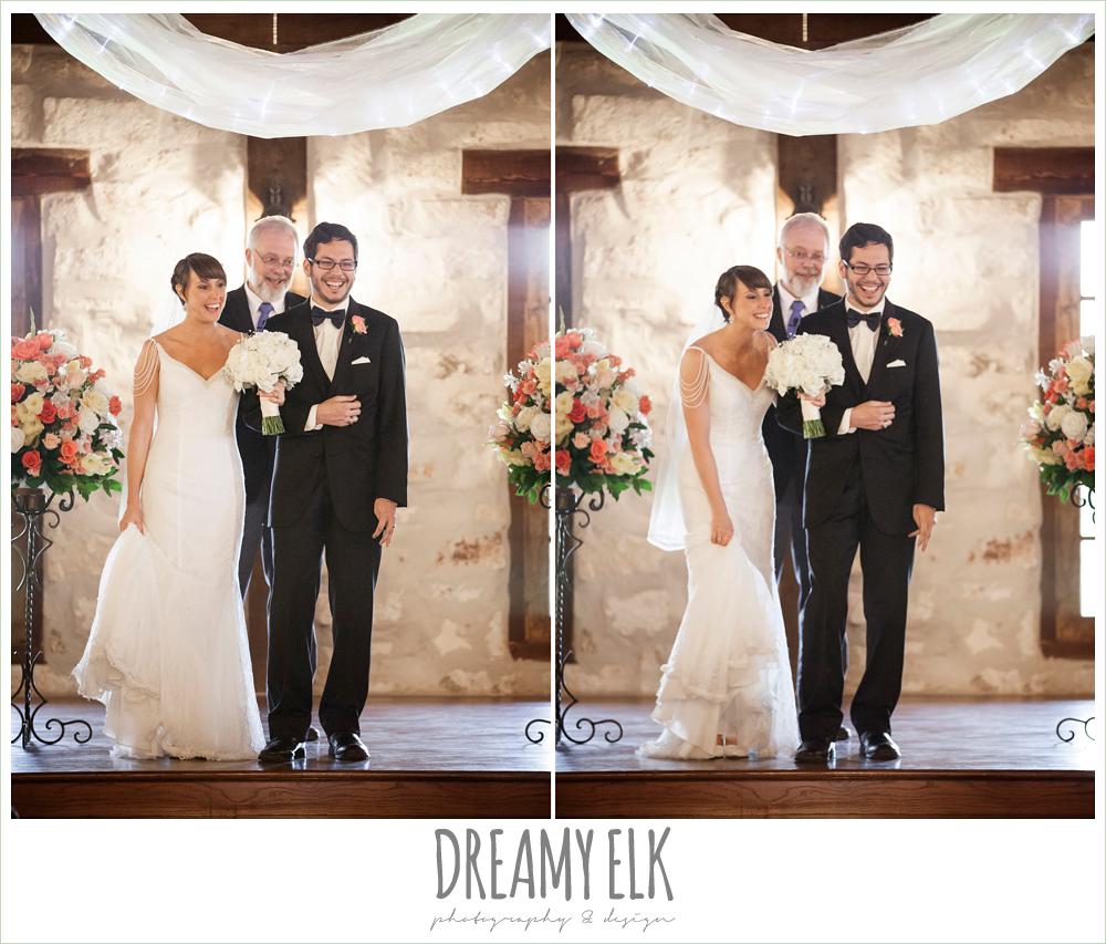 indoor wedding ceremony, pecan springs, houston, texas, photo {dreamy elk photography and design}