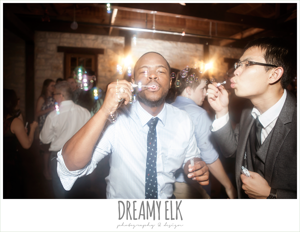 wedding guest blowing bubbles, pecan springs, houston, texas photo {dreamy elk photography and design}