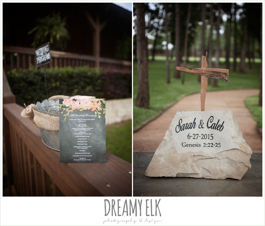wedding paper divas, summer floral wedding programs, amber springs summer wedding photo {dreamy elk photography and design}