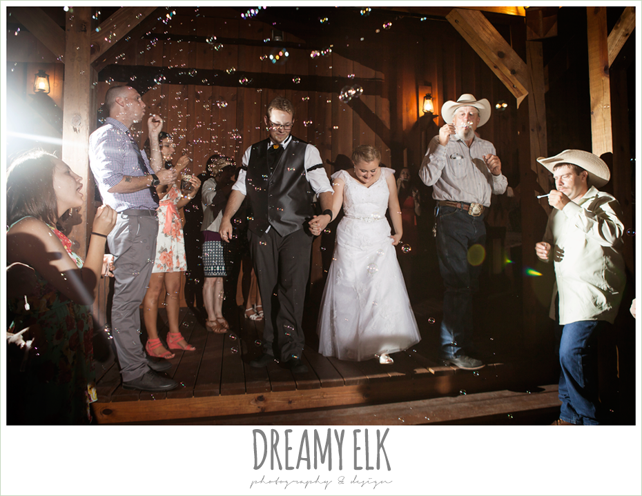 night send off with bubbles, amber springs summer wedding photo {dreamy elk photography and design}