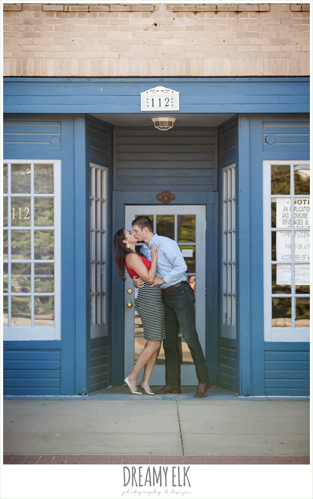 urban summer engagement photo, downtown bryan, texas {dreamy elk photography and design}