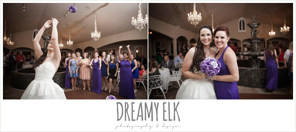 bouquet toss, heather's glen summer wedding photo, houston, texas {dreamy elk photography and design}