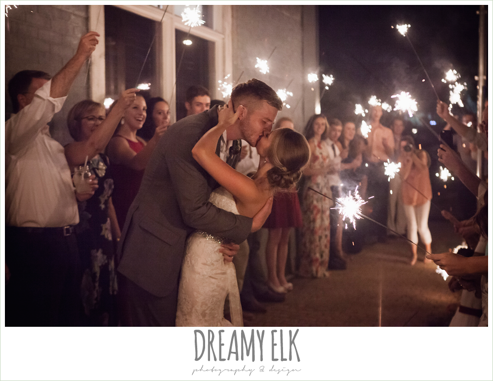sparkler exit from wedding reception, the union on 8th wedding photo {dreamy elk photography and design}