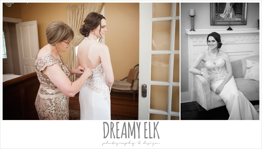 bride getting dressed, the winfield inn, wedding photo {dreamy elk photography and design}