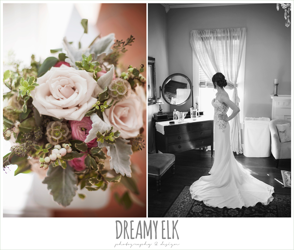 bouquets of austin, blush wedding bouquet, sheath wedding dress, the winfield inn, wedding photo {dreamy elk photography and design}