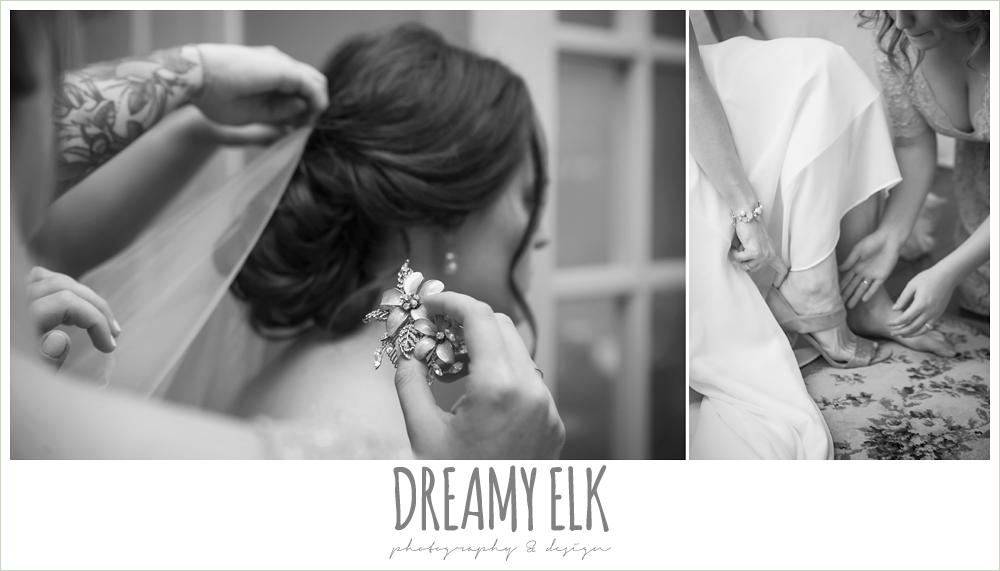 putting on wedding veil, the winfield inn, wedding photo {dreamy elk photography and design}