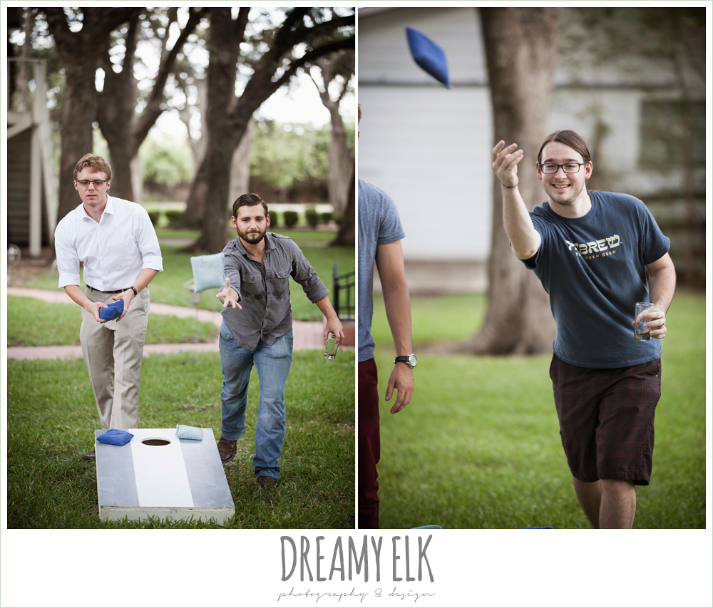 groom and groomsmen playing lawn games, the winfield inn, wedding photo {dreamy elk photography and design}