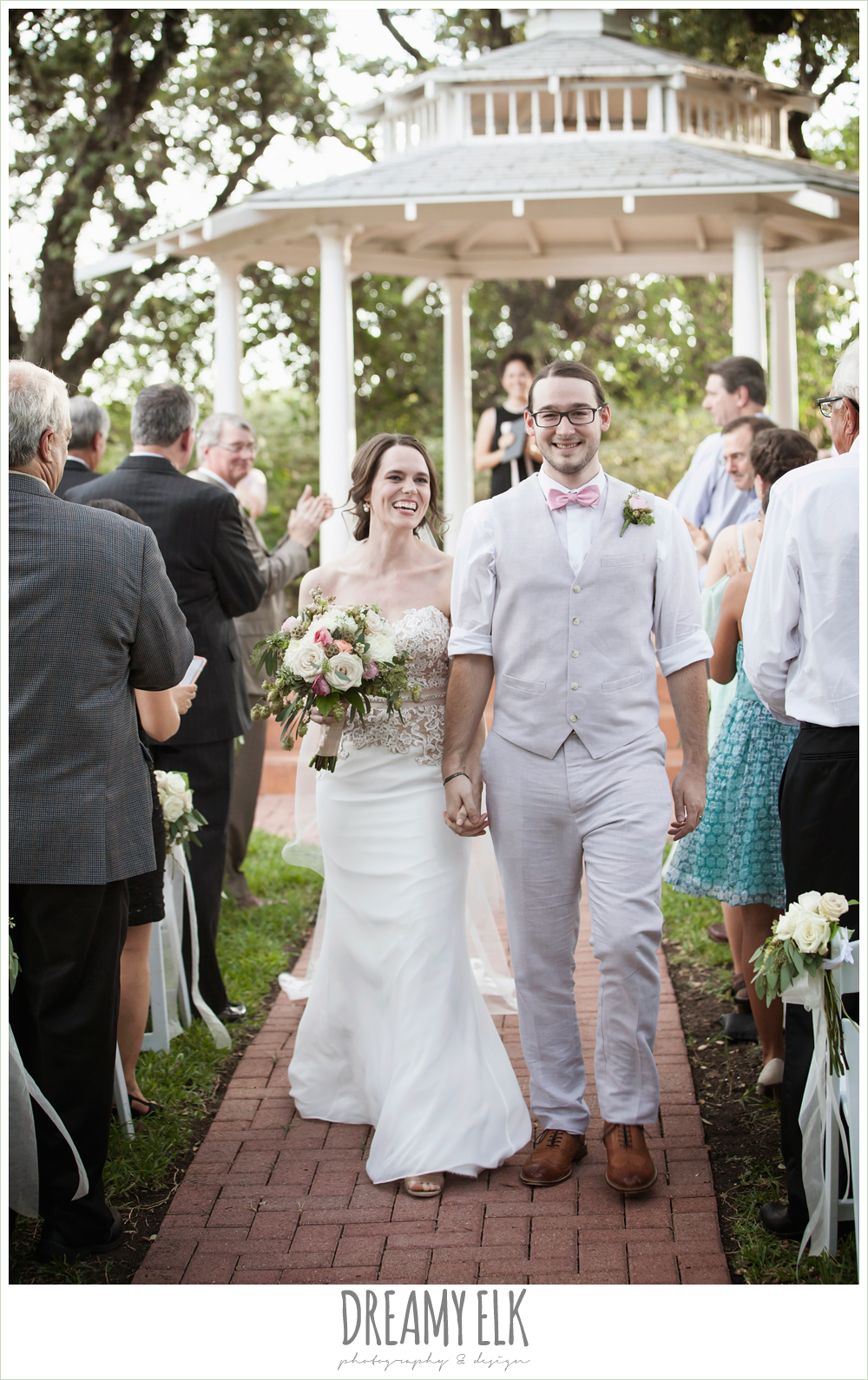 bride and groom walking down the aisle, outdoor summer wedding ceremony, the winfield inn, photo {dreamy elk photography and design}