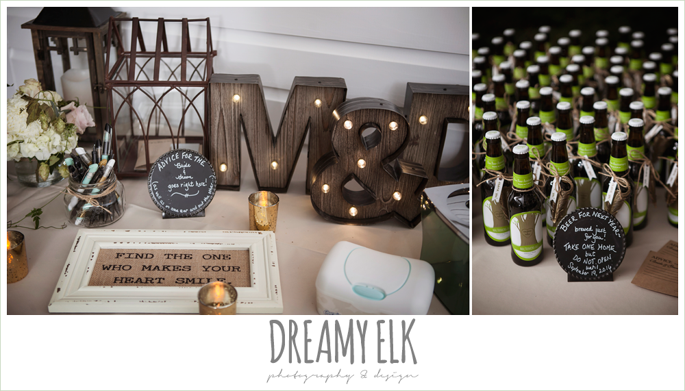 outdoor summer wedding reception table decorations, the winfield inn, photo {dreamy elk photography and design}